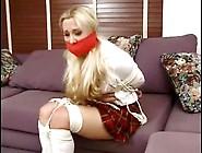 Tied Up Amateur Blonde In School Uniform