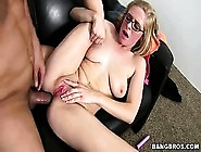 Blonde Bitch Loves Dick & Dildo In Her Ass