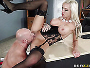 Brutal Bald Guy Eats Sweet Pussy Of Hot Blond Milf Nina Elle In