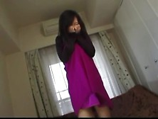 Sweet Japanese Babe Farting While Shaking Her Ass