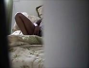 Voyeur View - Girl Orgasms Masturbating In Bed