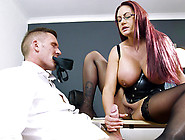 Red Head Bbw Emma Butt Loves To Jerk,  Suck And Footjob A Hard Co