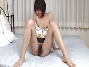 Japan Milf Shows Off The Hairy Pussy In A Kinky Play