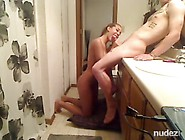 Busty Teenie Hottie Bathroom Fuck And Facial