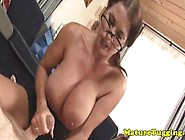 Homemade Tugging Housewife With Monsterboobs