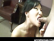 Hot And Horny Asian Girl Loves To Suck A Big Cock