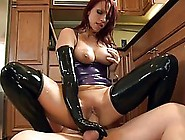 Red Haired Babe In Latex Dress,  Nikki Hunter Got Fucked In The K