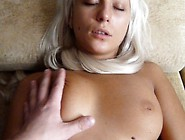 Busty Blonde Amateur Delivers A Nice Blowjob And Then Gets Bange