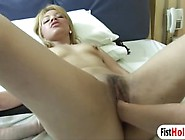 Lesbian Monica Mattos Gets Hairy Pussy Fisted