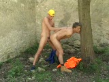 Two Young Workers Take A Bareback Sex Break