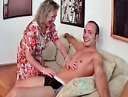 Granny Gets Slammed And Creamed