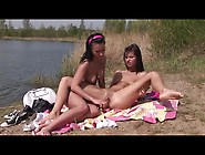 Megan Cox Has A Lesbian Experience By The Lake