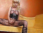 Playful Tranny Drives A Brutal Dildo In Her Experienced Ass