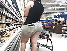 Wide Butt Bbw Latina With Ass Eating Shorts Part 1