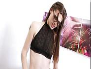 Teen Shemale Brooklyn Snuggles Her Dick Doing Her Sexua