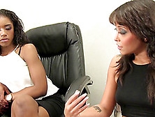A White Boss Seduces Her Black Co-Worker For Interracial Lesbian
