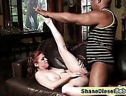 Redhead Whore Fucked By Horny Black Man