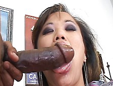 Sexy Asian Babe Mia Smiles Rides A Black Cock