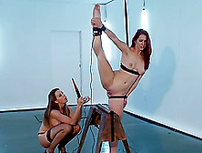 Flexible Melody Jordan Gets Tied Up And Wired By Chanel