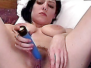 Brunette With Big Nipples Toys Hairy Pussy In Hot Solo Model Sce