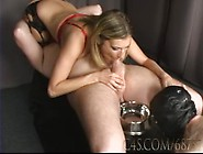 Mistress Dominates,  Humiliates Cuckold Loser With Strapon And Cr