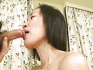 Pretty Japanese Milf Devours Stud's Cock Fervently