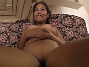 Smiling Dark Skin Asian Wife Is Treated With A Dick