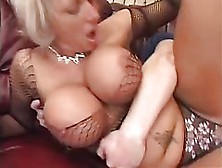 Big Titted Milf Is Wearing Fishnet Outfit While Getting Fucked V