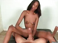 Ebony Girl Strokes And Plays With Huge Cock