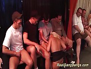 German Babe Fucked In Gangbang