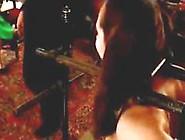 Redhead Girl With Mouth Gag Gettin Nipples Weigths Sitting On Fu