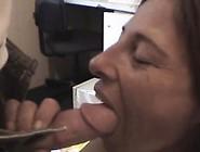 Aging Weathered Brunette Crack Whore Sucking Dick Pov