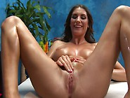 Hot Brunette Oiled Up And Fucked