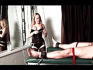 Tied Up Dude Gets His Feet Tortured In Bdsm