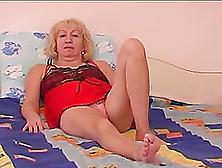 Fucking A Blonde Russian Lady's Old Seasoned Snatch