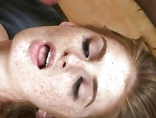 Slutty Faye Reagan Gets Her Face Sprayed With Spunk