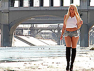 Anikka Albrite Wearing Shorts Deepthroats A Bbc And Enjoys Anal