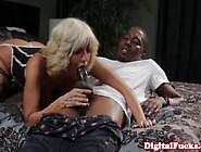 Highclass Cougar In Stockings Sucks A Black Boys Cock
