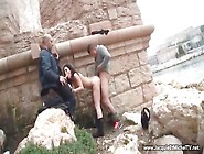 French Arab Slut Park Fucking
