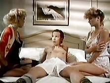 Ginger Lynn,  Amber Lynn & Tom Byron