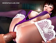 Anime Sex Doll Takes A Giant Cock In Tight Cunt