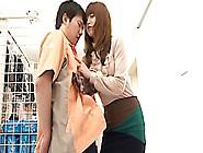 Dominant Japanese Slut Fucks At The Store