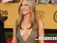 Sensational Celebrity Babe Jennifer Aniston Downblouse Collectio