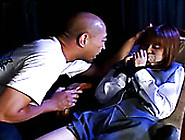 Bald Dude Seduces Teen Slut Nozomi Momoi And Plays With Her Tigh