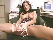 Milf Makes Herself Squirt With Big Dildo