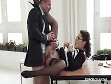 Slutty Secretary For Boss -Lingerie-Stayups-Glasses -Nikita Be..