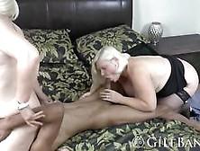 Teen And Granny Enjoy Sharing Long Black Dong