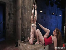 Blonde Slut Tied Up And Electrocuted