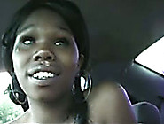 Dirty Amateur Black Chick In My Car Gives Head For Cash