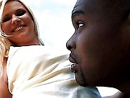 Yasmine Gold Sucks A Big Black Cock Outdoors And Then Gets Fucke